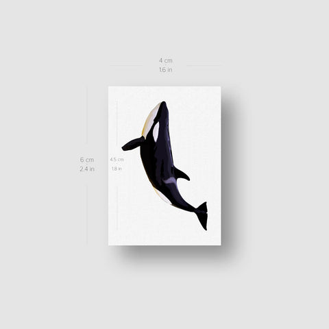 Killer Whale Temporary Tattoo - Set of 3