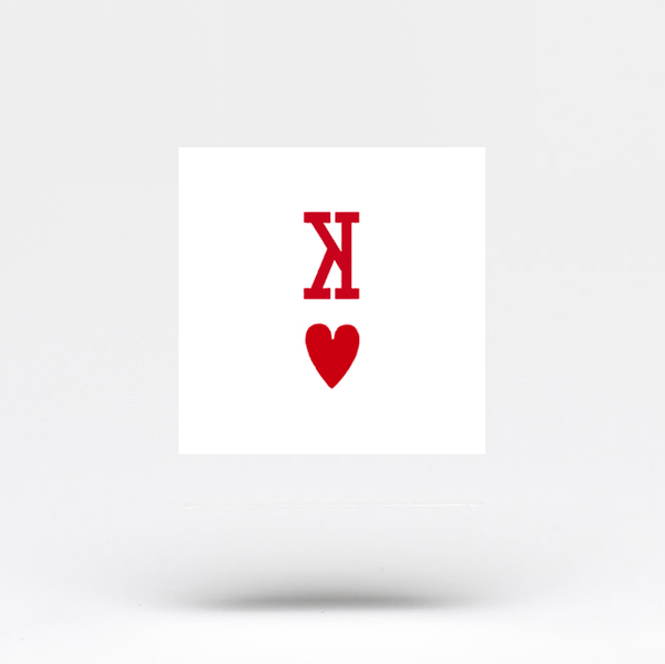 King of Hearts Temporary Tattoo (Set of 3)