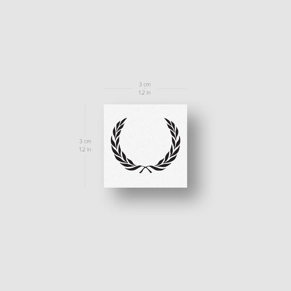 Minimalist Laurel Wreath Temporary Tattoo (Set of 3)