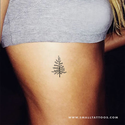 Pine Tree Temporary Tattoo (Set of 3)
