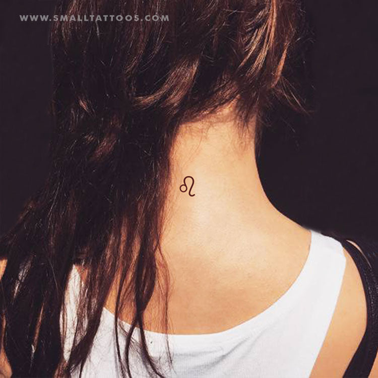Leo Zodiac Symbol Temporary Tattoo (Set of 3)