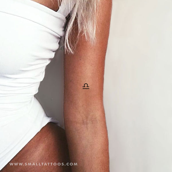 Libra Zodiac Symbol Temporary Tattoo (Set of 3)