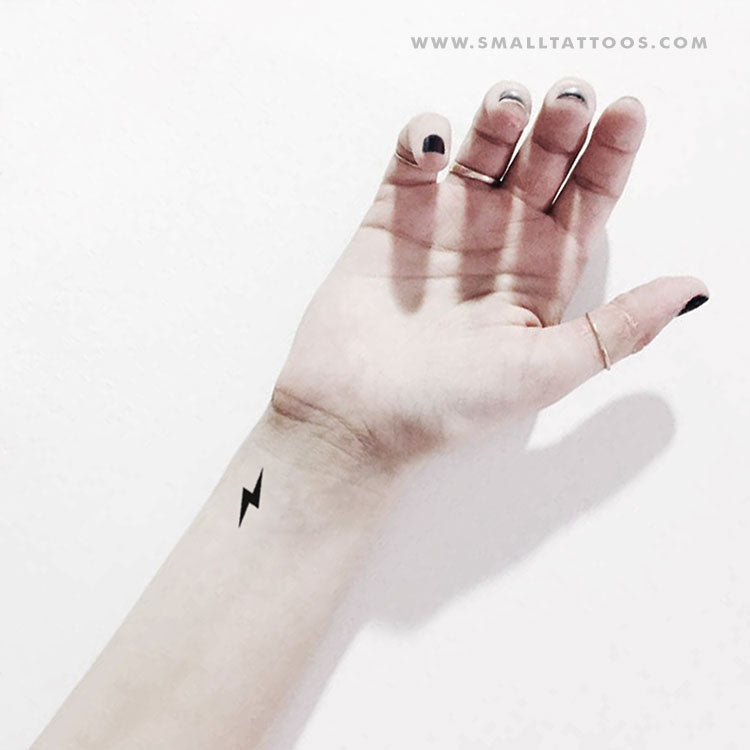 Lightning Bolt Temporary Tattoo (Set of 3)