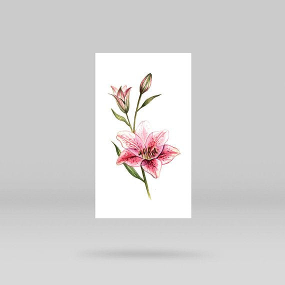 Lily Stargazer Temporary Tattoo By Lena Fedchenko (Set of 3)