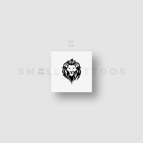Lion Face Temporary Tattoo (Set of 3)