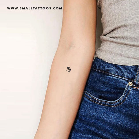 Virgo Zodiac Symbol Temporary Tattoo (Set of 3)