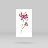 Lotus Flower Temporary Tattoo By Lena Fedchenko (Set of 3)