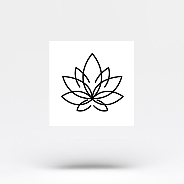Minimalist Lotus Flower Temporary Tattoo (Set of 3)