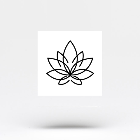 Minimalist Lotus Flower Temporary Tattoo Set Of 3 Small Tattoos
