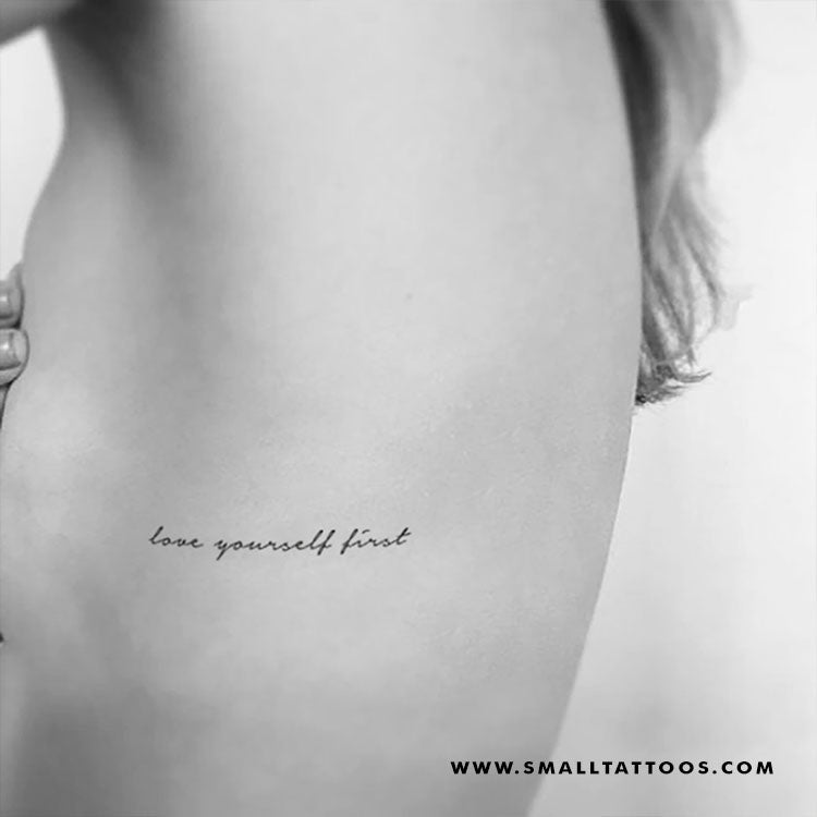 Love Yourself First Temporary Tattoo (Set of 3)