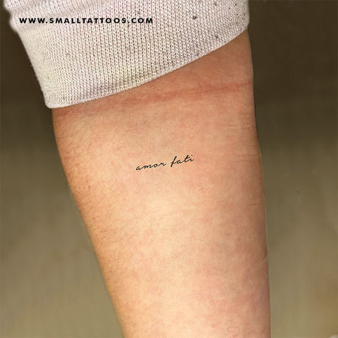 Small Amor Fati Temporary Tattoo (Set of 3)
