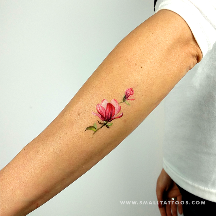 Magnolia Temporary Tattoo By Lena Fedchenko (Set of 3)