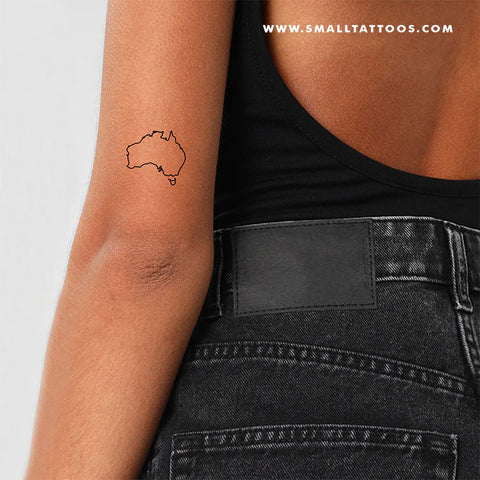 Australia Map Temporary Tattoo (Set of 3)