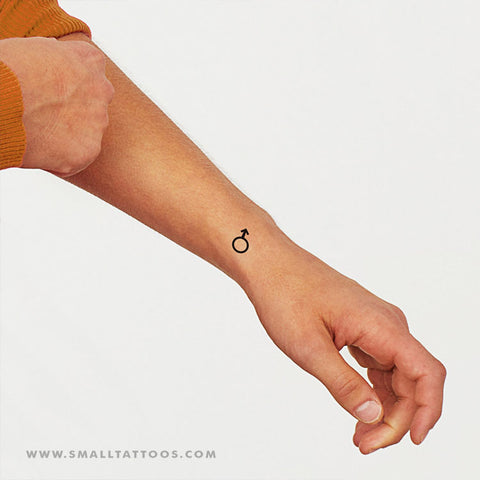 Mars Planetary Symbol Temporary Tattoo (Set of 2)