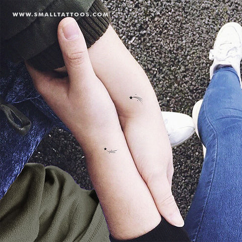 Matching Shooting Stars Temporary Tattoo (Set of 2+2)
