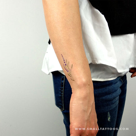 Lavender Temporary Tattoo by Mini Lau (Set of 3)