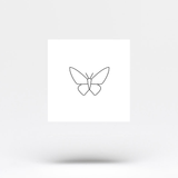 Minimalist Butterfly Temporary Tattoo (Set of 3)