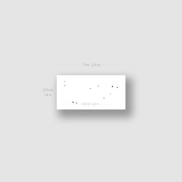 Minimalist Capricornus Constellation Temporary Tattoo (Set of 3)