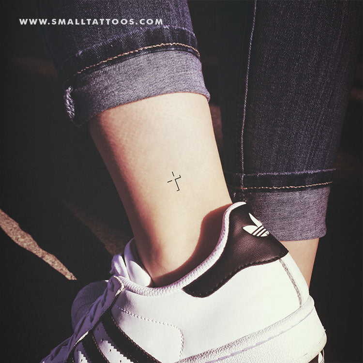 Cross Shadow Temporary Tattoo (Set of 3)