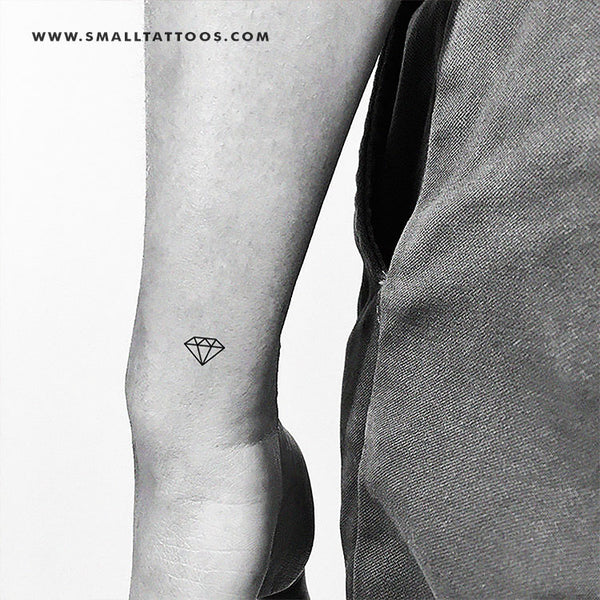 Minimalist Diamond Temporary Tattoo (Set of 3)