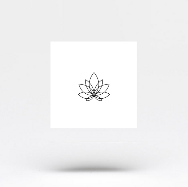 Small Minimalist Lotus Flower Temporary Tattoo (Set of 3)