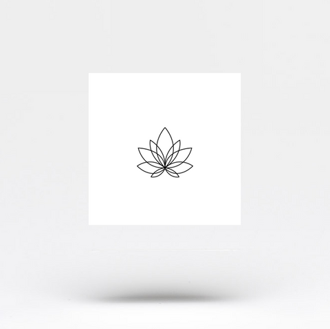 Small Minimalist Lotus Flower Temporary Tattoo Set Of 4 Small