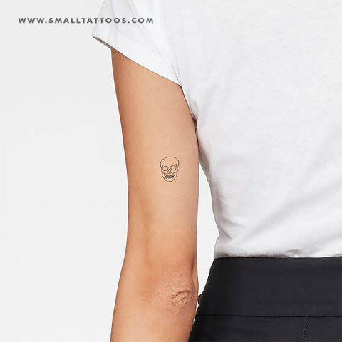 Minimalist Skull Temporary Tattoo (Set of 2)