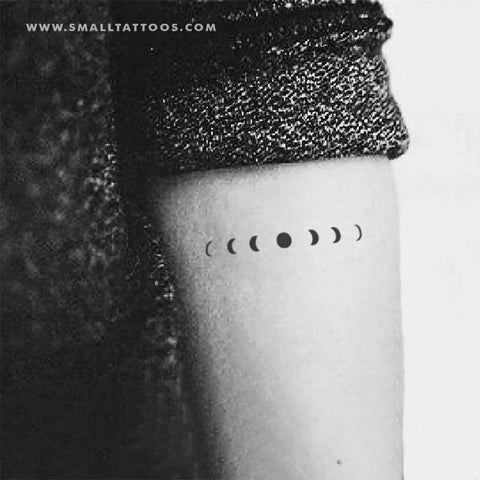 Minimalist Moon Phases Temporary Tattoo (Set of 3)