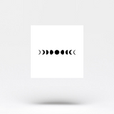 Moon Phases Temporary Tattoo (Set of 3)