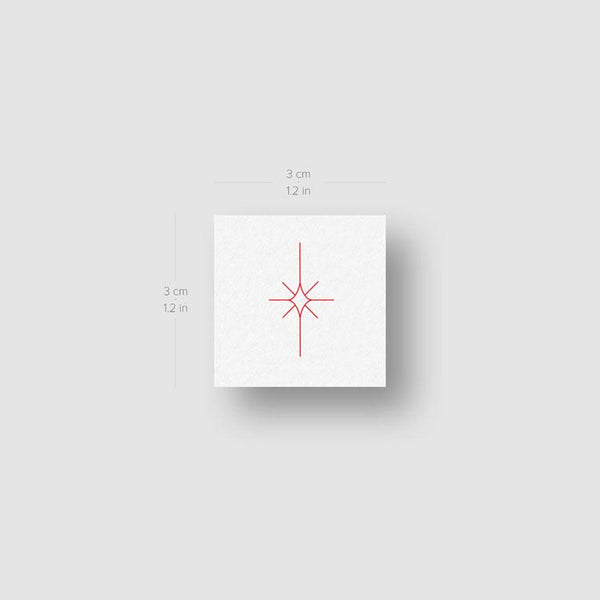Morning Star Type II [Red] by Jakenowicz Temporary Tattoo - Set of 3