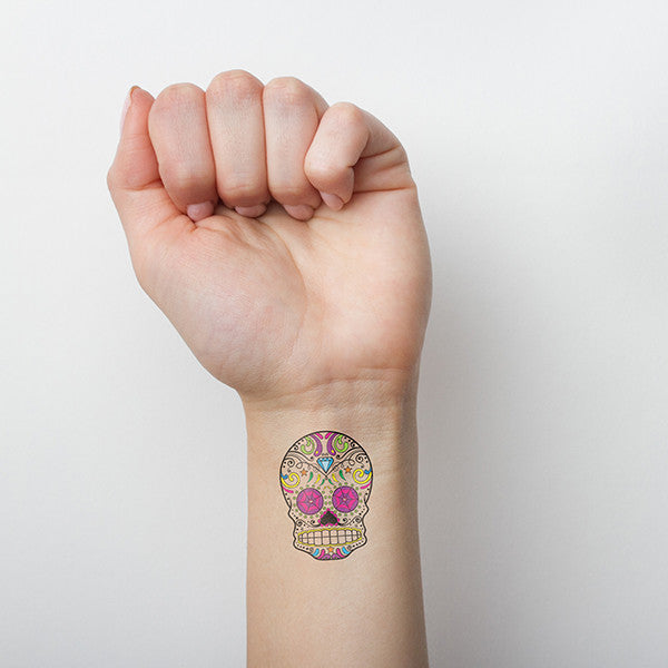 Sugar Skull Temporary Tattoo (Set of 3)