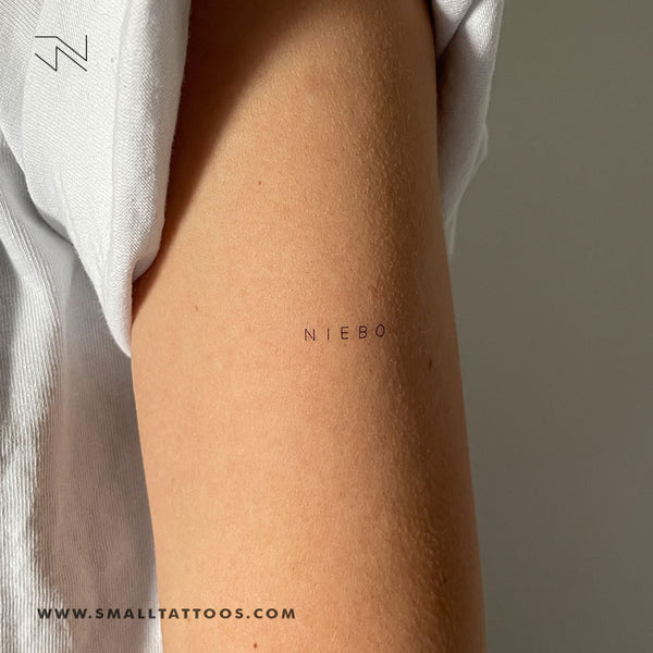 'Niebo' by Jakenowicz Temporary Tattoo - Set of 3