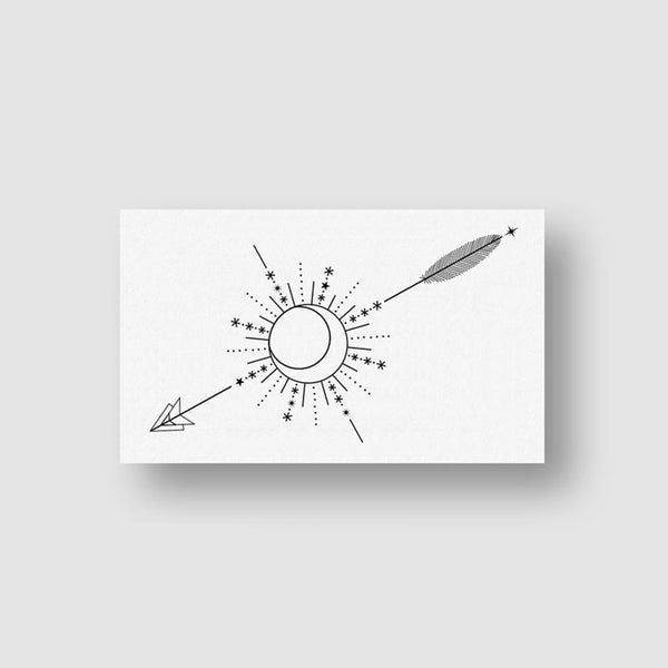 Arrow Compass Temporary Tattoo (Set of 3)