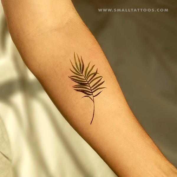 Palm Leaf Temporary Tattoo by Zihee (Set of 3)