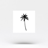 Small Palm Tree Temporary Tattoo (Set of 4)