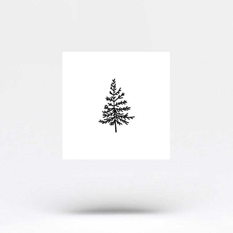 Small Pine Tree Temporary Tattoo (Set of 3)