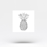 Pineapple Temporary Tattoo (Set of 3)
