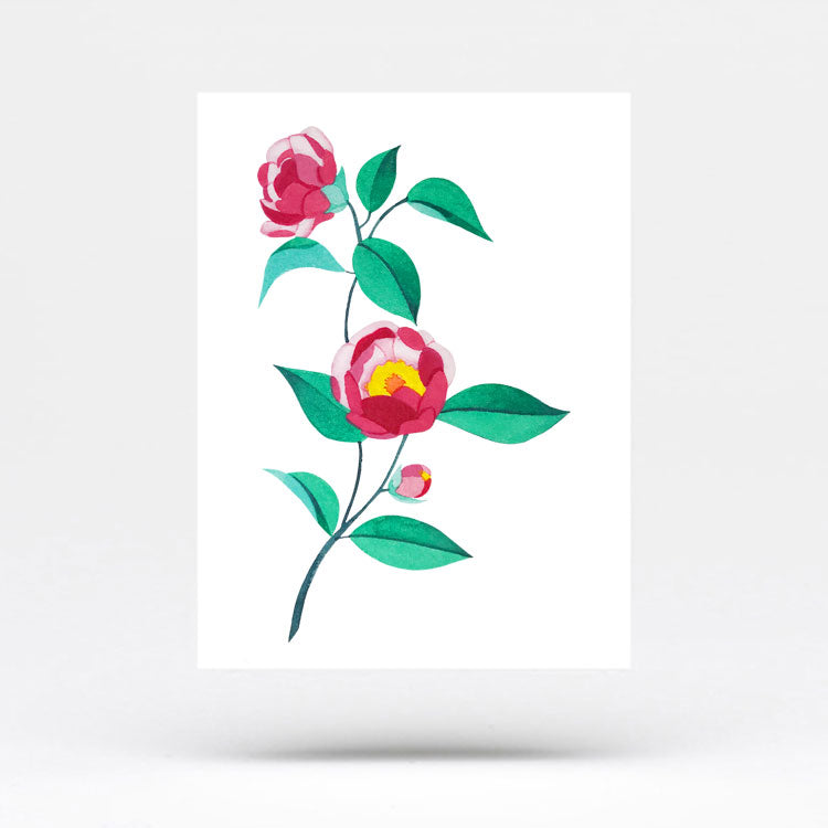 Pink Peony Temporary Tattoo by Zihee (Set of 3)