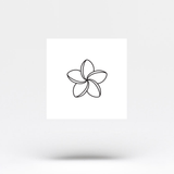 Plumeria Temporary Tattoo (Set of 3)