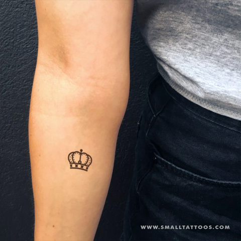 Queen Crown Temporary Tattoo (Set of 4)