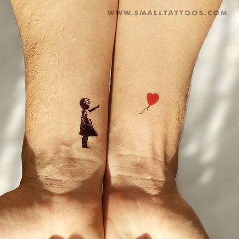 Banksy's Balloon Girl Temporary Tattoo (Set of 3)