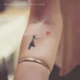 Banksy's Balloon Girl Temporary Tattoo (Set of 2)