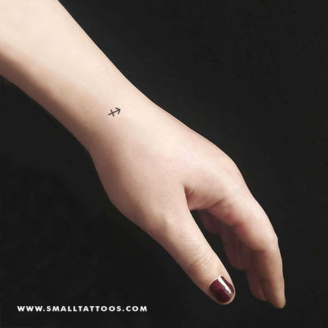 Sagittarius Zodiac Symbol Temporary Tattoo (Set of 3)