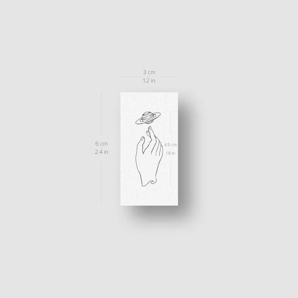 Saturn by Jakenowicz Temporary Tattoo - Set of 3