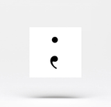 Semicolon Temporary Tattoo (Set of 4)