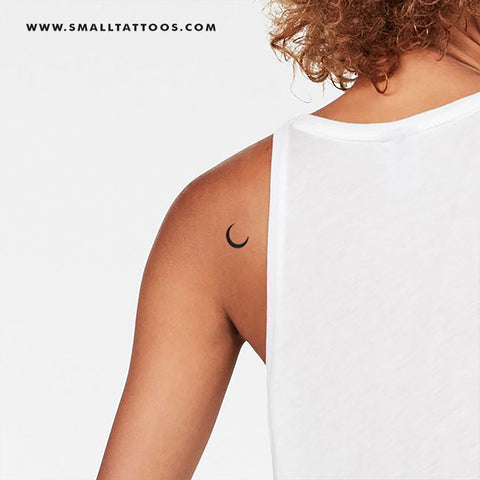 Crescent Moon Temporary Tattoo (Set of 3)