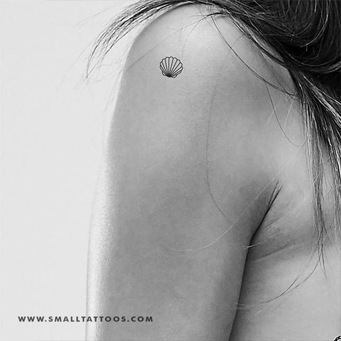 Small Shell Temporary Tattoo (Set of 3)