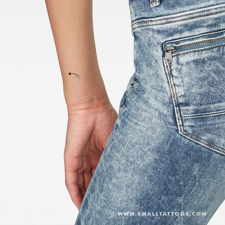 Shooting Star Temporary Tattoo (Set of 3)