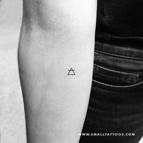 Air Alchemy Symbol Temporary Tattoo (Set of 3)