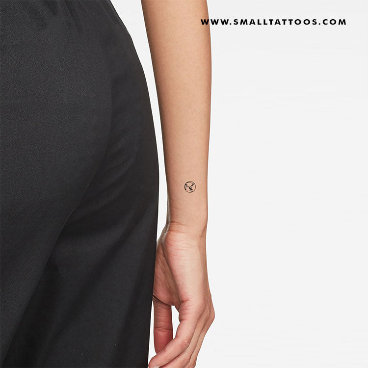 Small Planet Earth (Asia and Oceania) Temporary Tattoo (Set of 3)